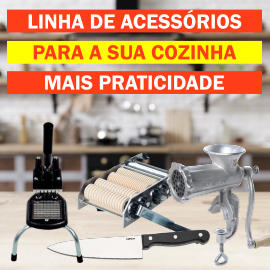 Acessórios e utensílios que garantem a praticidade na sua cozinha.
